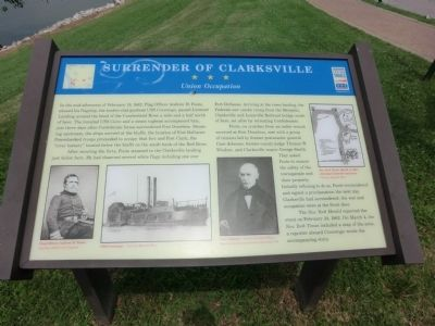 Surrender of Clarksville Marker image. Click for full size.