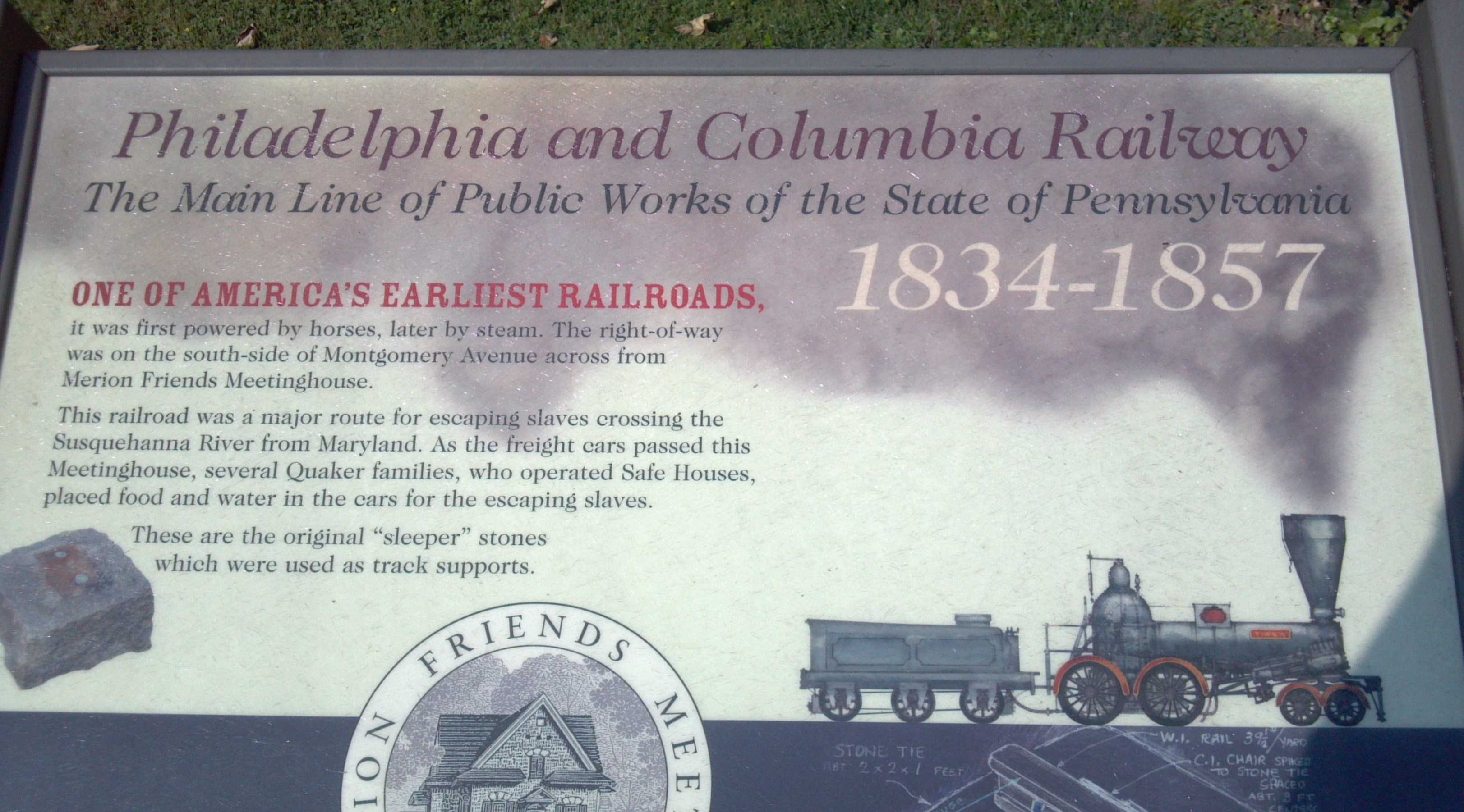 Philadelphia and Columbia Railway Marker