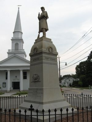 Mystic Civil War Memorial image. Click for full size.