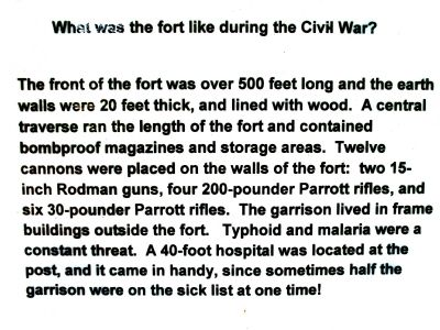 What was the fort like during the Civil War? image. Click for full size.