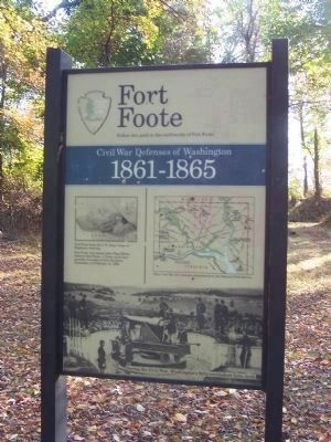 Fort Foote Marker image. Click for full size.