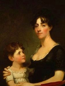Rosalie Stier Calvert<br> and her Daughter Caroline Maria<br>Painted by Gilbert Stuart, 1804 image. Click for full size.