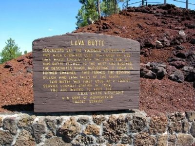 Lava Butte Marker image. Click for full size.
