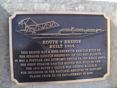 Route 7 Bridge Marker image. Click for full size.