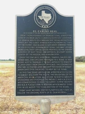 Route of El Camino Real Marker image. Click for full size.