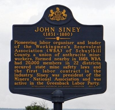 John Siney Marker image. Click for full size.