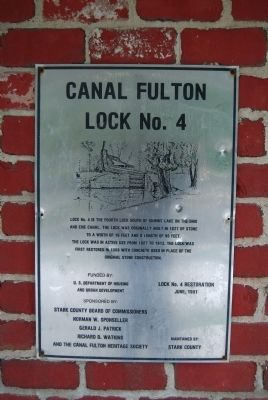 Ohio and Erie Canal Lock 4 Lockhouse Marker image. Click for full size.