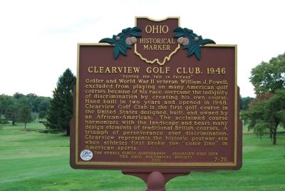 Clearview Golf Club, 1946 Marker image. Click for full size.