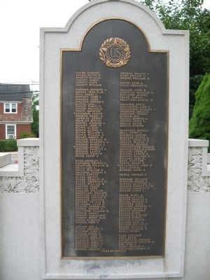 Pawcatuck World War I Monument image. Click for full size.