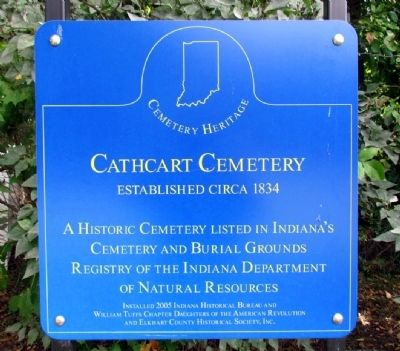 Cathcart Cemetery Marker image. Click for full size.