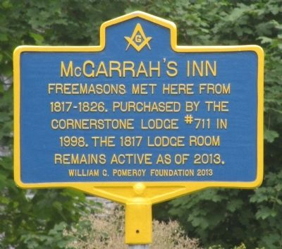 McGarrah's Inn Marker image. Click for full size.