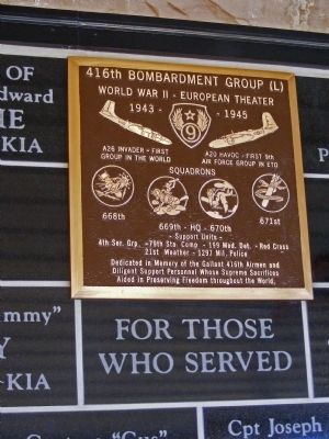 416th Bomb Group Marker image. Click for full size.