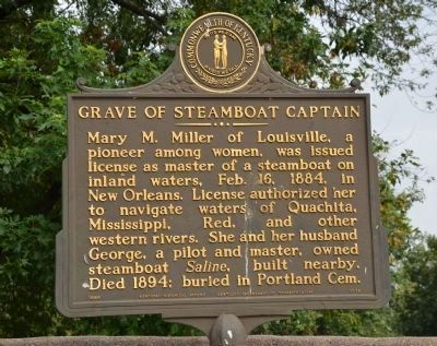 Grave of Steamboat Captain Marker image. Click for full size.