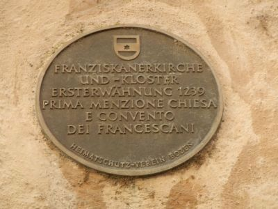 Franciscan Monastery Plaque image. Click for full size.
