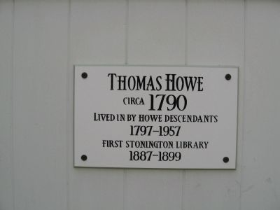 Thomas Howe House Marker image. Click for full size.