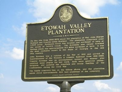 Etowah Valley Plantation Marker image. Click for full size.