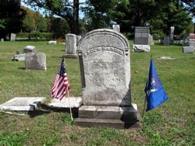 Headstone and Grave of Enoch Harris image. Click for full size.