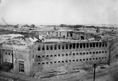 Damage to the Citadel. August 23, 1864 image. Click for full size.