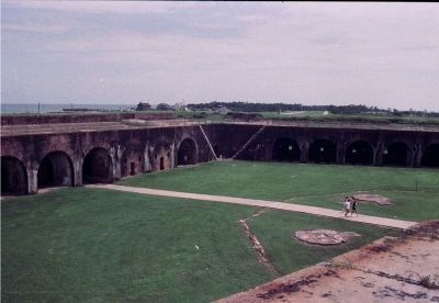 The cement walkway bisects the Citadel's foundations. image. Click for full size.