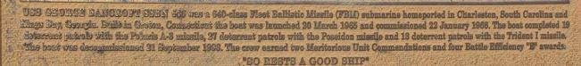 "USS George Bancroft Sponsor Plaque ""B"" excerpt image. Click for full size."