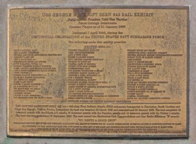"USS George Bancroft Sponsor Plaque ""B"" and 66 names image. Click for full size."