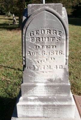 George Fruits - - Tombstone image. Click for full size.
