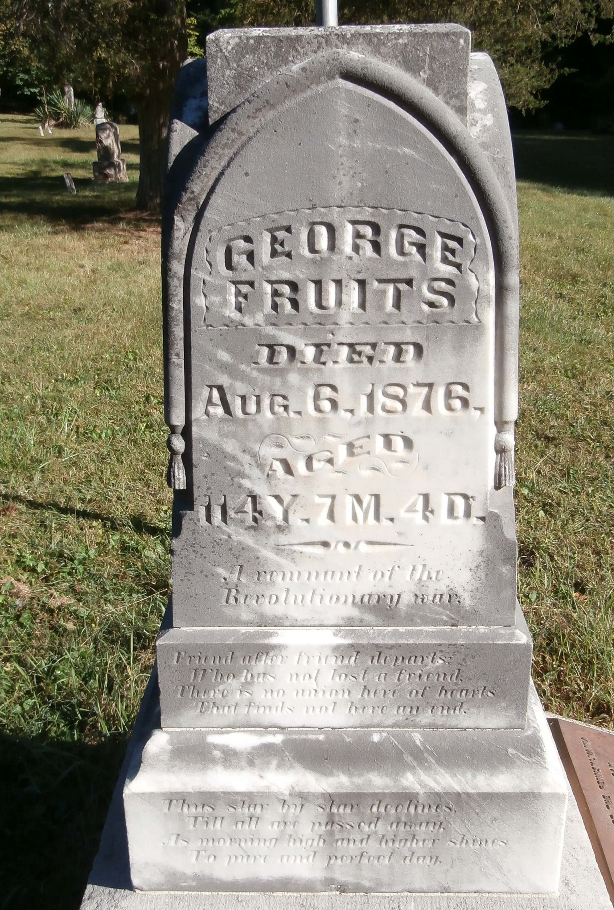 George Fruits - - Tombstone