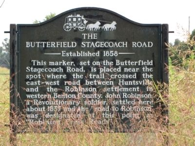 The Butterfield Stagecoach Road Marker image. Click for full size.