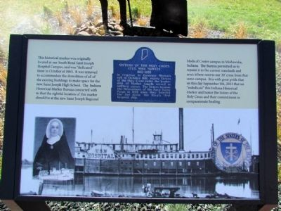 Sisters of the Holy Cross Marker Relocation Marker image. Click for full size.