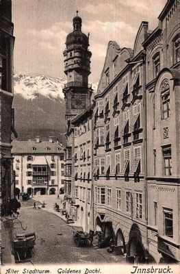 The Golden Roof and City Tower - Looking North on Herzog Friederichstrasse image. Click for full size.