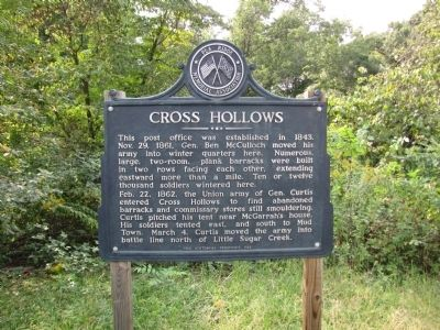 Cross Hollows Marker image. Click for full size.