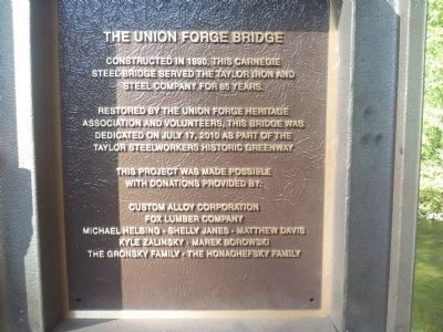Union Forge Bridge Marker image. Click for full size.