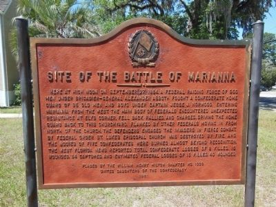 Site of the Battle of Marianna Marker image. Click for full size.
