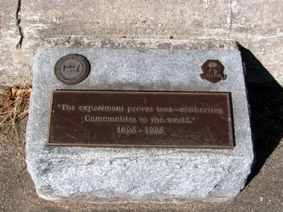 Centennial Tablet at Base of Monument image. Click for full size.