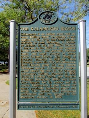 The Kalamazoo Region Marker image. Click for full size.