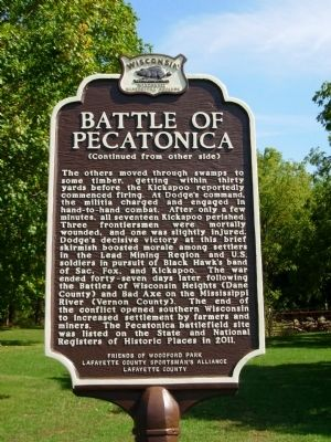 Battle of Pecatonica Marker image. Click for full size.