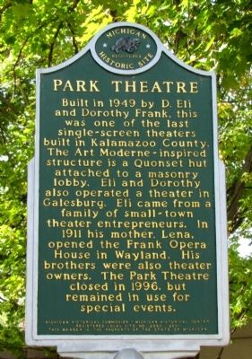 Park Theatre Marker image. Click for full size.