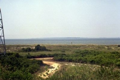 The Channel Into Mobile Bay Viewed From Fort Morgan. image. Click for full size.