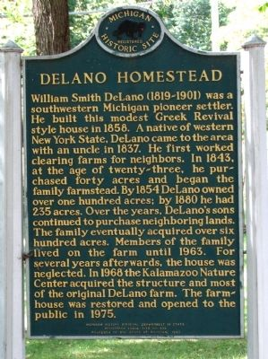 DeLano Homestead Marker image. Click for full size.