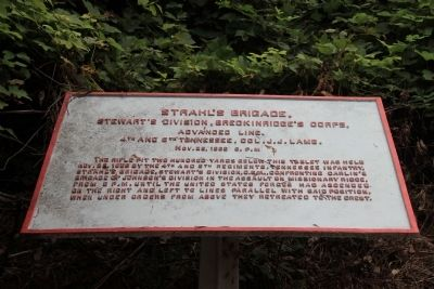 Strahl's Brigade Marker image. Click for full size.