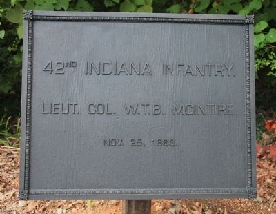 42nd Indiana Marker image. Click for full size.