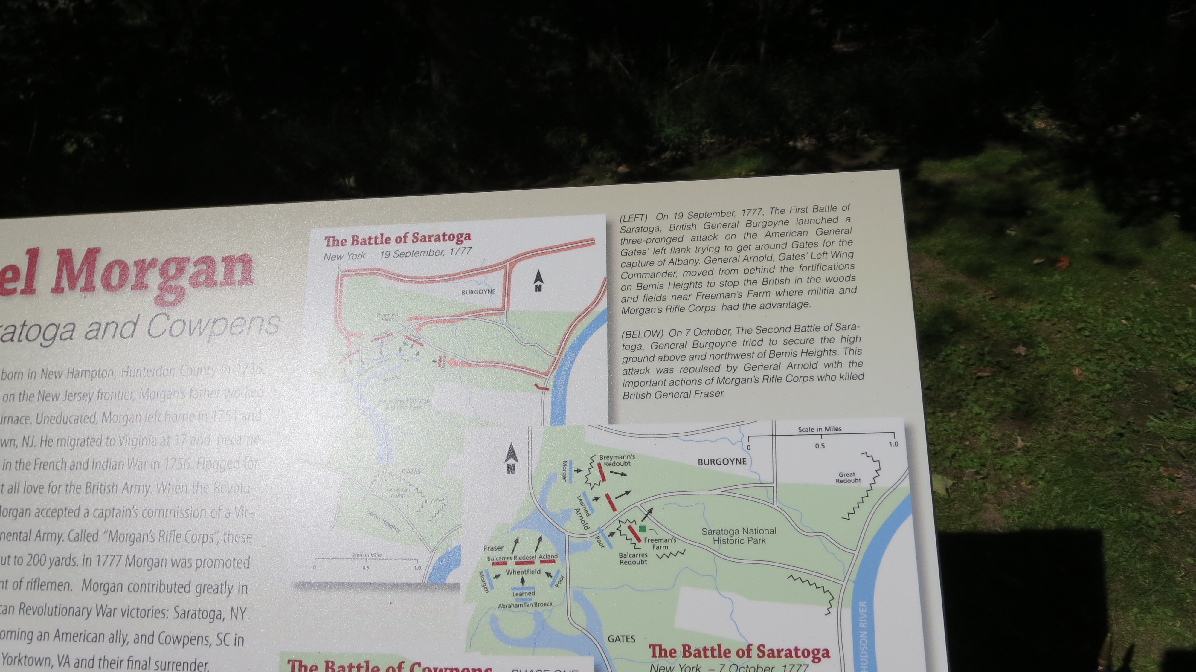 The Battle of Saratoga - additional detail