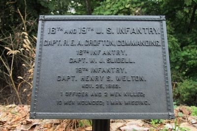 16th and 19th United States Infantry Marker image. Click for full size.