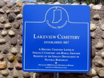 Lakeview Cemetery Marker image. Click for full size.