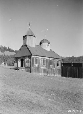 View from South-West - Fort Ross, Russian Chapel, Fort Ross, Sonoma County, CA image. Click for full size.