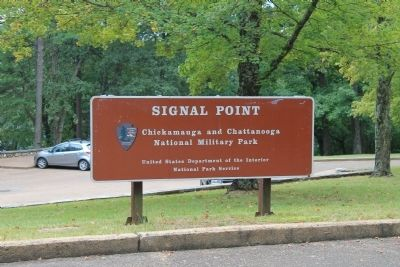 Signal Point, Park Sign image. Click for full size.