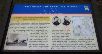 Sherman Crosses the River Marker image. Click for full size.