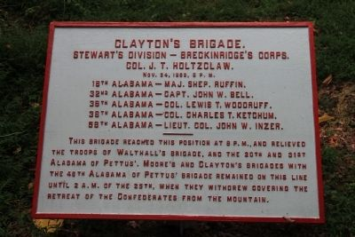 Clayton's Brigade Marker image. Click for full size.