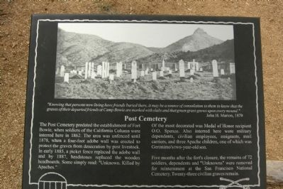 Post Cemetery Marker image. Click for full size.