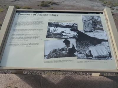 Pioneers of Paleontology Marker image. Click for full size.